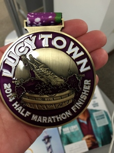 The Lucy Town Finisher Medal.